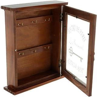 WINOMO Wall Key Holder Box Wall Valet Lock Box Key Cabinet Wall Mount Retro Wood Box pour Home Entryway Organisateur Box D...