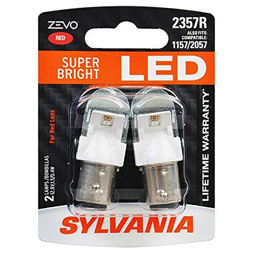 SYLVANIA ZEVO 2357 Red LED Bulb, (Contains 2 Bulbs)
