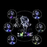 ZENING Rompecabezas de Cristal 3D Doce Constelaciones Interés de Desarrollo Intelectual