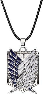قلادة من زتشيكو للرسوم المتحركة Attack on Titan وشعار Wing of Liberty - لون فضي