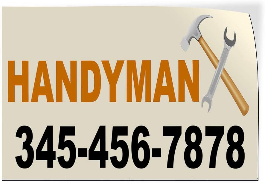Custom Door Decals 購入 Vinyl Stickers Handyman Sizes ☆国内最安値に挑戦☆ Phone Multiple