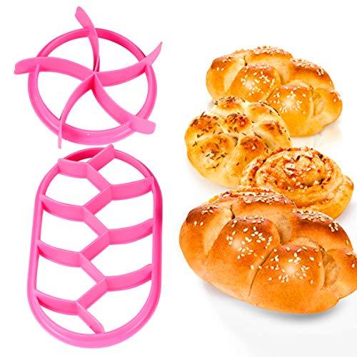 UPKOCH 2 STK. Sello para pan, forma de hoja, sartén, concha, molde...