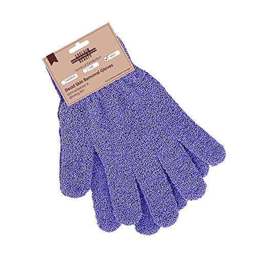 EXCLAIM BEAUTY Exfoliating Gloves Body Scrubber Gloves For Shower, Spa, Massage Shower Gloves Dual Texture Bath Gloves | Dead Skin Remover With Adjustable Straps
