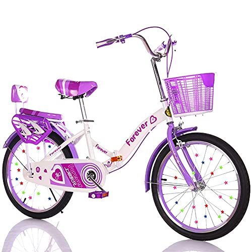 HUAQINEI Bicicleta para niños de 16 a 20 Pulgadas, para niños y niñas, Adecuada para niños de 5 a 14 años