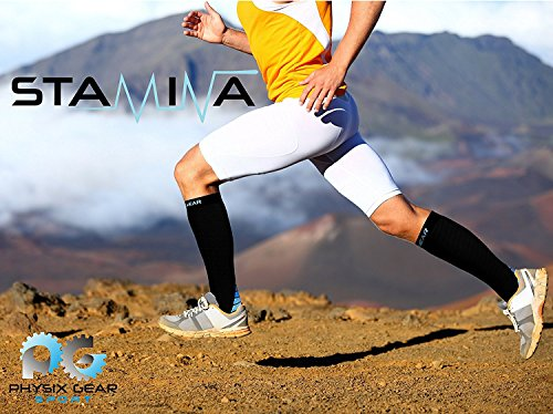 Compression Socks for Men & Women, BEST Graduated Athletic Fit for Running, Nurses, Shin Splints, Flight...