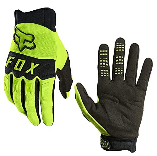 Fox Dirtpaw Glove Fahrrad MTB / MX Cross Langfinger Handschuhe (Neon Gelb, M = Medium)
