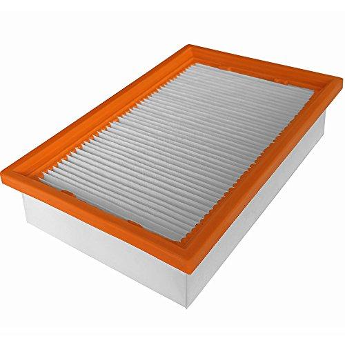 Flachfaltenfilter | 239 x 140 x 56 mm | Staubklasse M | Polyestervlies | AT geeignet für Kärcher 6.904-360.0, Bosch 2 607 432 034, Flex 369.829, Hilti 203863, 2121387