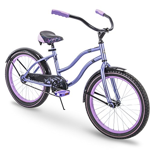 Best Deals! Huffy 26 Women's Beach Cruiser Holbrook Bike w/ Cup Holder, Handle Basket & Rear Rack