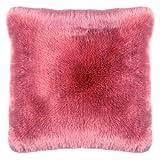Pad - Kissenhülle - Kissenbezug - Sheridan - Kunstfell - Salmon/pink / rosa - 45 x 45 cm