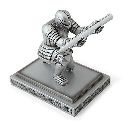 Stiftehalter, kreatives Design - kniender Ritter, ideal für Schreibtische, Dekorationsartikel für Büro und Schule, Geschenkidee