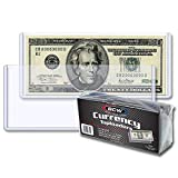 BCW Currency Topload Holder for Regular Bills, Clear, 25-Count