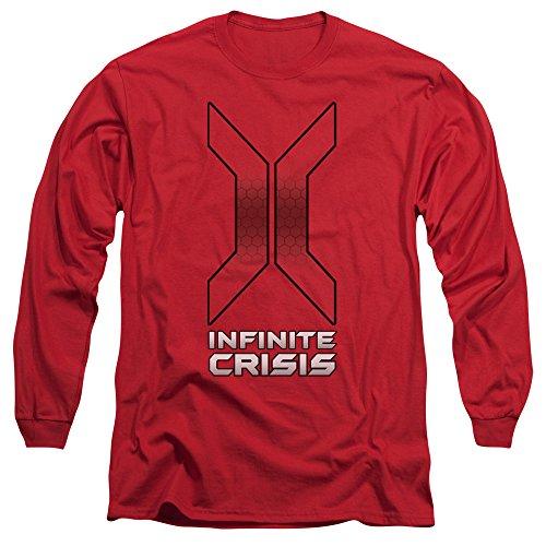Crise Infinie - Titre longues Homme T-shirt à manches, XX-Large, Red