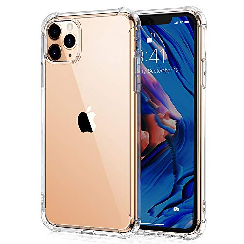 ULuck Case for iphone 11 Pro Max, Crystal Clear [Anti-Yellow] Ultra Slim Soft TPU Silicone Shockproof, Anti-Scratch iphone 11 pro max phone Case Cover - Pure Clear (6.5 inch)