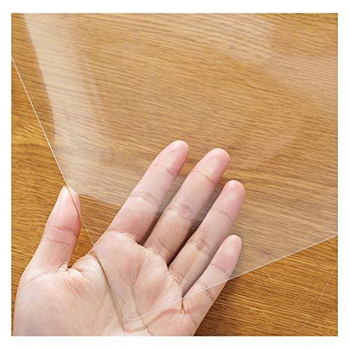 WUZMING 2mm De Espesor Impermeable Mantel Transparente Limpiable Cocina Oficina Alfombrilla Multiusos 52 Tamaños (Color : 2mm, Size : 60x60cm)