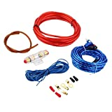 PETSOLA Car Audio 8GA Amplificador Cableado Set Cable de Alimentación Fusible 60AMP Durable
