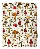 Mushroom - Funda para libros duros para libro de bolsillo,...