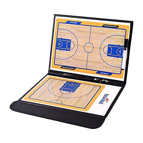 Sharplace Kit de portapapeles de Entrenamiento de Baloncesto de 2 Caras con Tablero de Entrenador de borrado en seco, Estrategia de Plan de Partido, artículos