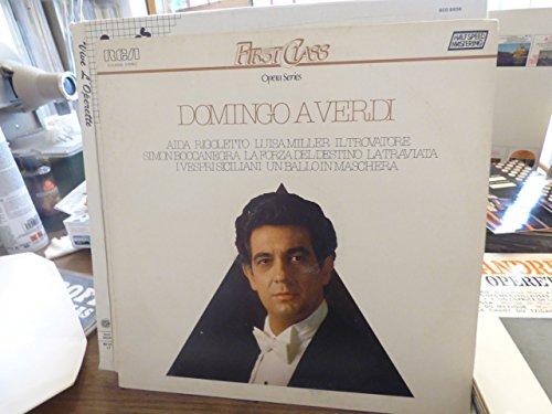 Domingo A verdi opera series - first class - disque RCA VLS 45506 :