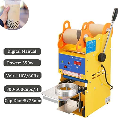 Best Deals! Manual Cup Sealing Machine Bubble Tea Plastic Cup Sealer Boba Machine (Digital Manual)
