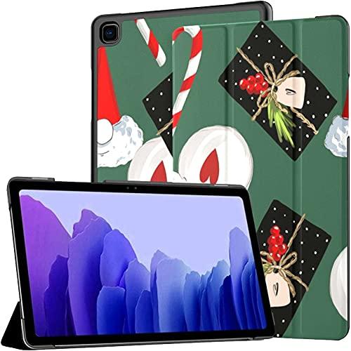 Funda para Samsung Galaxy Tab A7 Tablet de 10,4 Pulgadas 2020 (sm-t500 / t505 / t507), Jc Año Nuevo Christmas GNOME Candy Funda de Soporte de ángulo múltiple con activación/suspensión automática