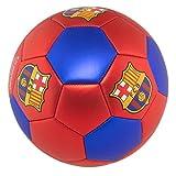 FC Barcelona Soccer Ball Size 5 Metallic red
