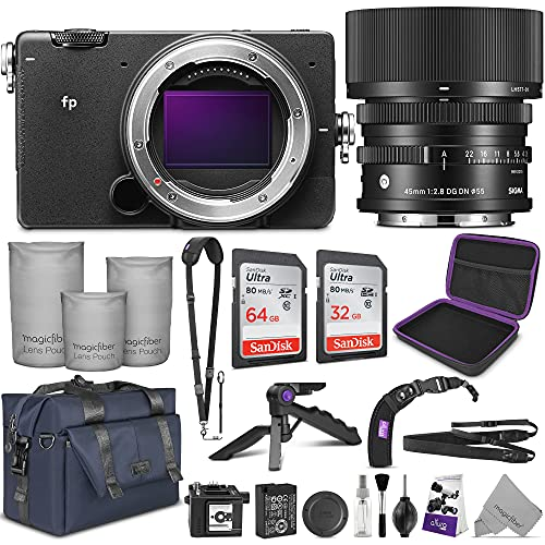 Sigma FP Mirrorless Digital Camera with 45mm Lens with Altura Photo Complete Accessory and Travel Bundle