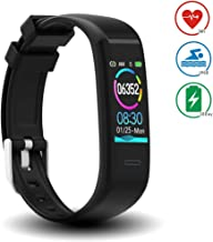 DoSmarter Waterproof Fitness Tracker Heart Rate Monitor Watch, All-Day Activity Tracker Pedometer Watch with Step Calories Sleep Tracker, Smart Band Health Tracker for Man Woman Kids Best Gift
