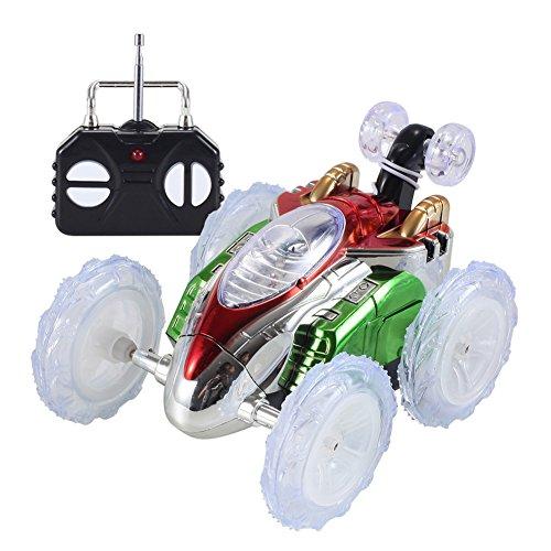 Kinder-RC-Auto, 360 Grad drehbar, Stunt-Tanz-Auto, buntes Blinklicht, ferngesteuertes Stunt-Fahrzeug, tolles Geschenk für Kinder Free Size bunt