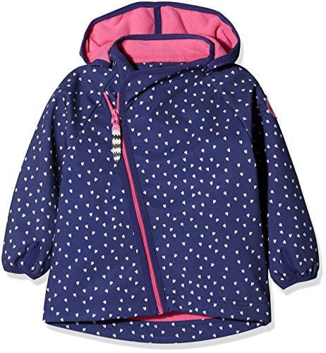 Racoon Baby-Mädchen Mille Softshelljacke (Wassersäule 5.000) Jacke, Mehrfarbig (Blue Ribbon Blu), 80