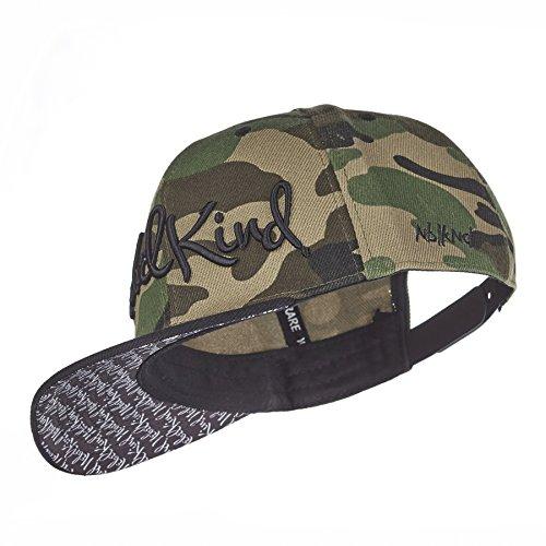 Nebelkind Snapback Cap Camouflage Rotated Grün Braun Kappe 6-Panel One Size
