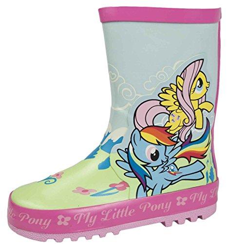 My Little Pony Gummistiefel für Mädchen, Blau - My Little Pony 2 Figur - Größe: 24 EU