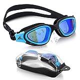 Swim Goggles Recreation SKL Watertight Swimming Goggles Wide View Swim Goggles with No Leaking Anti...