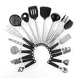 GYZX 15 unids de cocinas ecológicas para el Medio Ambiente, Utensilios de Cocina con Gancho Gratis, punzonado, Conveniente, Caja de arotección Ambiental de Uso domiciliario