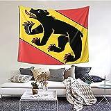 AOOEDM Bern Flagge Tapisserie Dekoration Wandbild zum Aufhängen Kinder Schlafzimmer Wohnzimmer Wohnheim Dekoration 60*51 Zoll
