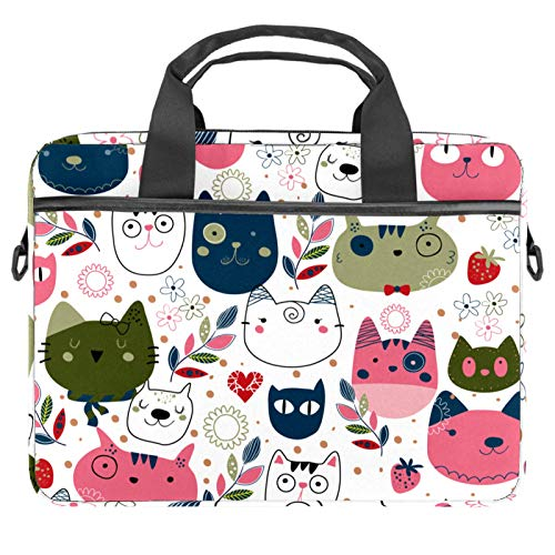 13.4'-14.5' Laptop Case Notebook Cover Business Daily Use or Travel Colorful Cats Pattern