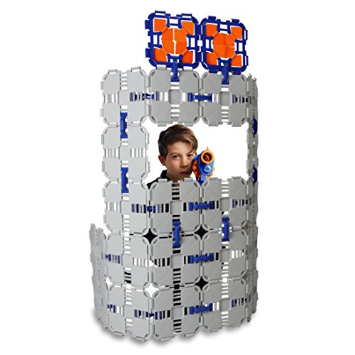Blaster Boards - 1 Pack | Kids Fort Building Kit for Nerf Wars & Creative Play | 46 Piece Set
