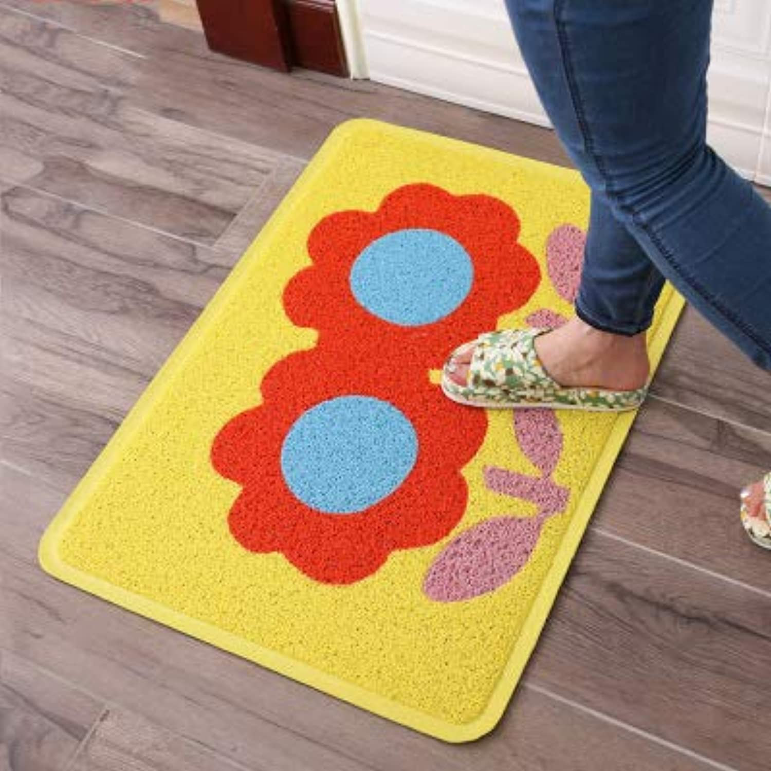 Door mat,Entrance Door mats Carpet mats Non Slip Door mat Durable Easy Clean Front Door mat-Yellow 58x82cm(23inchx32inch)