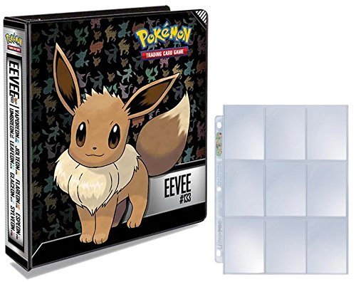 Ultra Pro Pokemon Eevee 3-Ring Binder 25 Platinum 9-Pocket Pages image