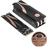 Sabrent 2TB Rocket Nvme PCIe 4.0 M.2 2280 Unidad de Estado sólido SSD Interna de máximo Rendimiento con disipador térmico (SB-ROCKET-NVMe4-HTSK-2TB)