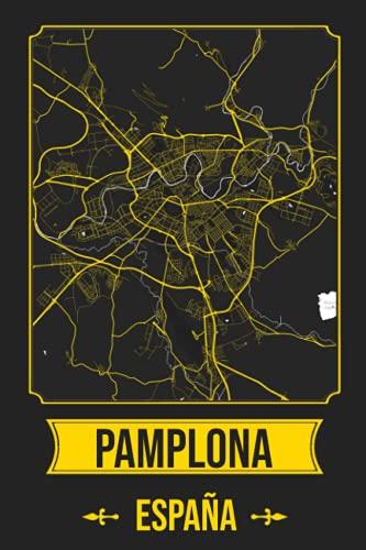 PAMPLONA España Cuaderno: Squareious de la Ciudad de PAMPLONA, Hoja Forrada, Diario 200 PÁGINAS, 6x9