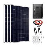 Giosolar Panel solar de 300 W de alta eficiencia policristalina panel solar PV con MPPT 40A controlador solar para autocaravana, caravana, camping, barco/yate