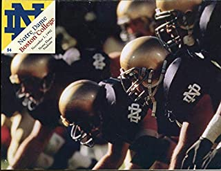 1992 Notre Dame v Boston College Football Program Ex Condition - College Programs