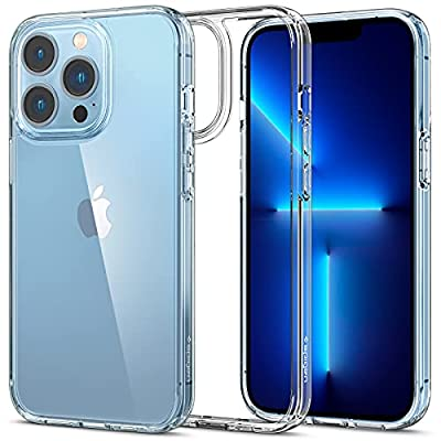 Spigen Ultra Hybrid [Anti-Yellowing Technology] Designed for iPhone 13 Pro Max Case (2021) - Crystal Clear