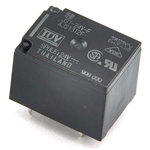 electronics-salon 100pcs Panasonic JS1–24V-F 10A Cubic forma de tipo Alimentación del relé, SPDT/1C, DC 24V.