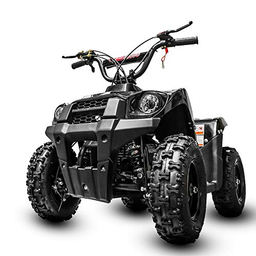 Fit Right Monster Kids Wheeler 40cc 4 Stoke Gas Powered ATV Off Road Kids ATV Front and Rear Suspension and Disk Breaker Perfect First Quad for Kids (White)
