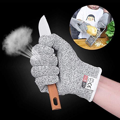 Sinwind Schnittsichere Handschuhe für Kinder – Leistungsfähiger Level 5 Schutz, lebensmittelecht (XXS (4-7 Jährige))