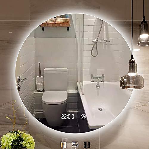 Espejo de Pared para baño con Luces LED Espejo de vanidad Espejo de Maquillaje Regulable con Luces Espejo de baño Iluminado Redondo Múltiples Opciones