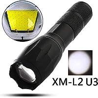 Z-LIANG 懐中電灯 LED 強力 懐中電灯LED懐中電灯トーチ8000ルーメンのL2 U3ズーム可能な自衛隊ポータブルランタン5モード調節キャンプライトランプミニT6 高輝度