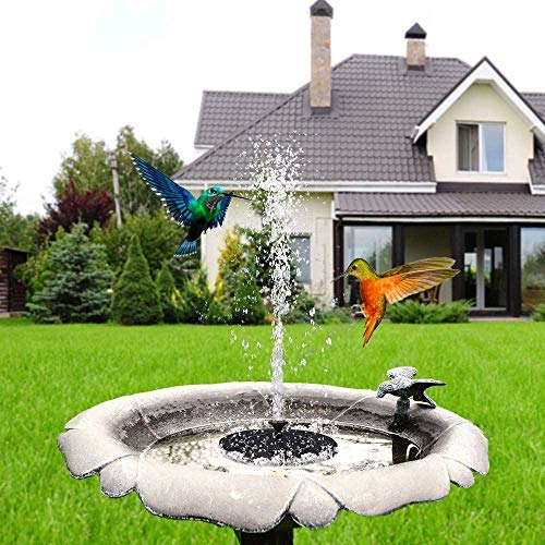 AIMOS Solar Bird Bath Fountain Pump…
