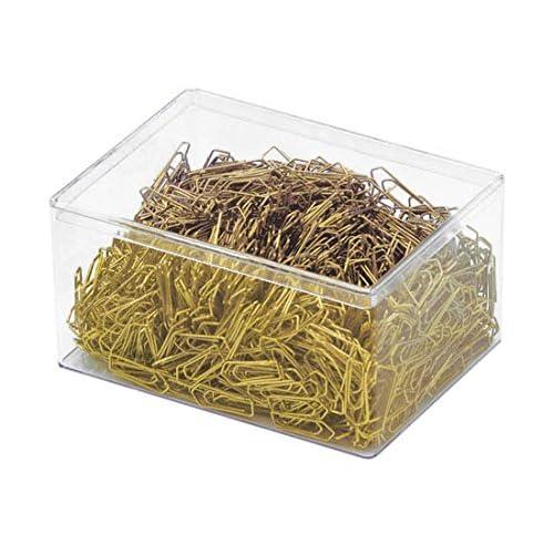 Wedo 9101500 - Clips metálicos (26 mm, revestimiento de plástico, caja de 1500 unidades), color latón: Amazon.es: Oficina y papelería